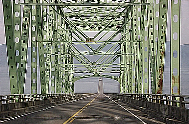 Bridge in Astoria, Oregon - &copy 2010-2012 Susan Larison Danz